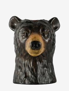 Vase Bear - interiör - brown