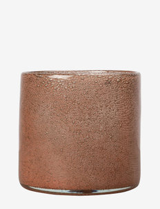 Vase/Candle holder Calore M - lyslykter - rusty red