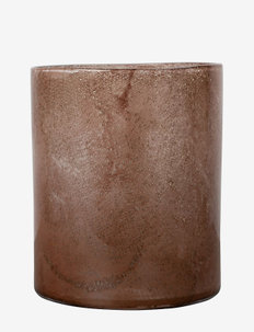 Vase/Candle holder Calore L - lyslykter - rusty red