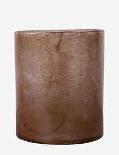 Vase/Candle holder Calore L - interiör - rusty red
