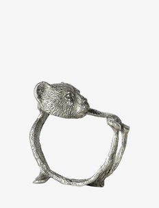 Napkin ring Bear - serviettringer & serviettholdere - silver