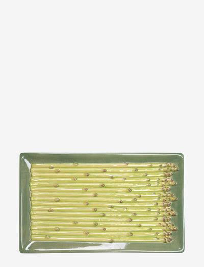 Plate Asparagus - tarjoiluastiat ja -lautaset - green