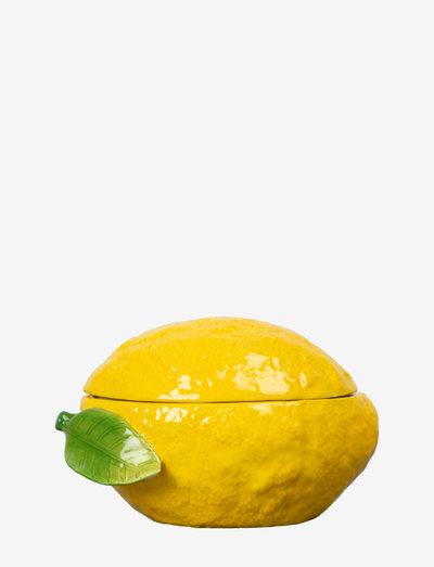Bowl with lid Lemon - serveringsskåler - yellow