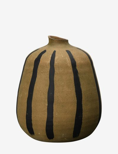 Vase Stripes/brown - vaser - black