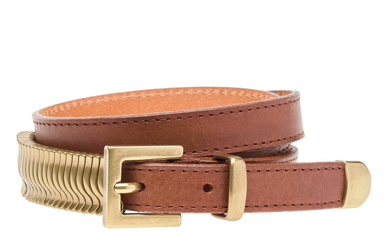 Cala Jade Mini Rattle Belt - NUT MEG GOLD