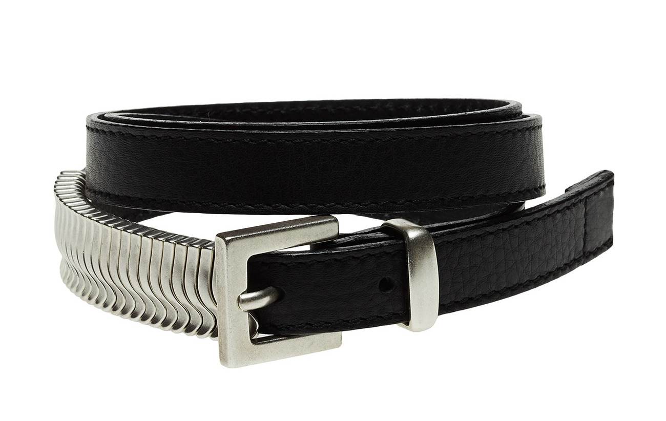 Cala Jade Mini Rattle Belt - BLACK SILVER