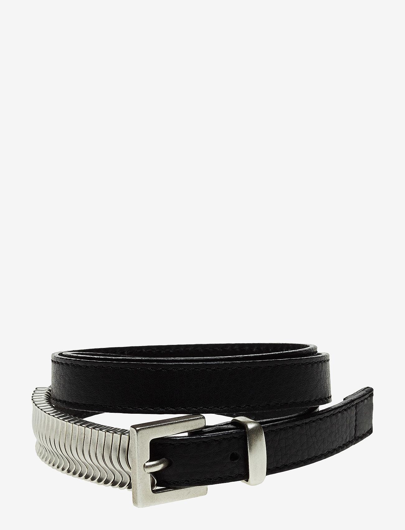 Cala Jade - Mini Rattle Belt - riemen - black silver - 0