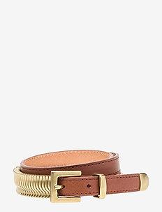 Rattle Belt - NUT MEG GOLD