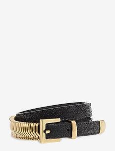 Mini Rattle Belt - BLACK PYRITT GOLD