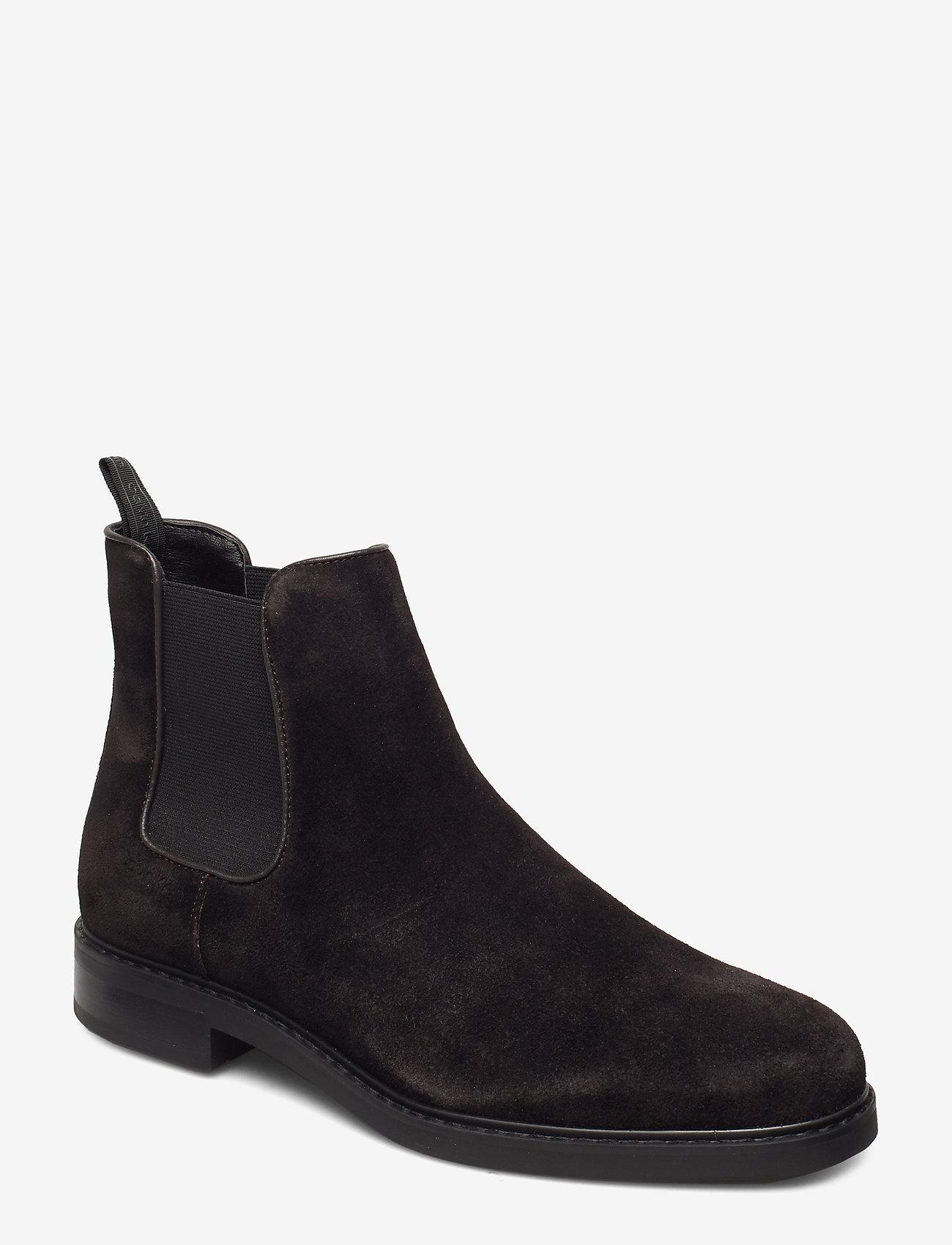 Calvin Klein - FINTAN - chelsea boots - dark brown - 0