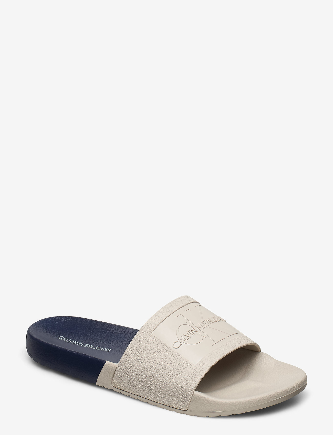 Calvin Klein - VIELMO - pool sliders - stone/navy - 0