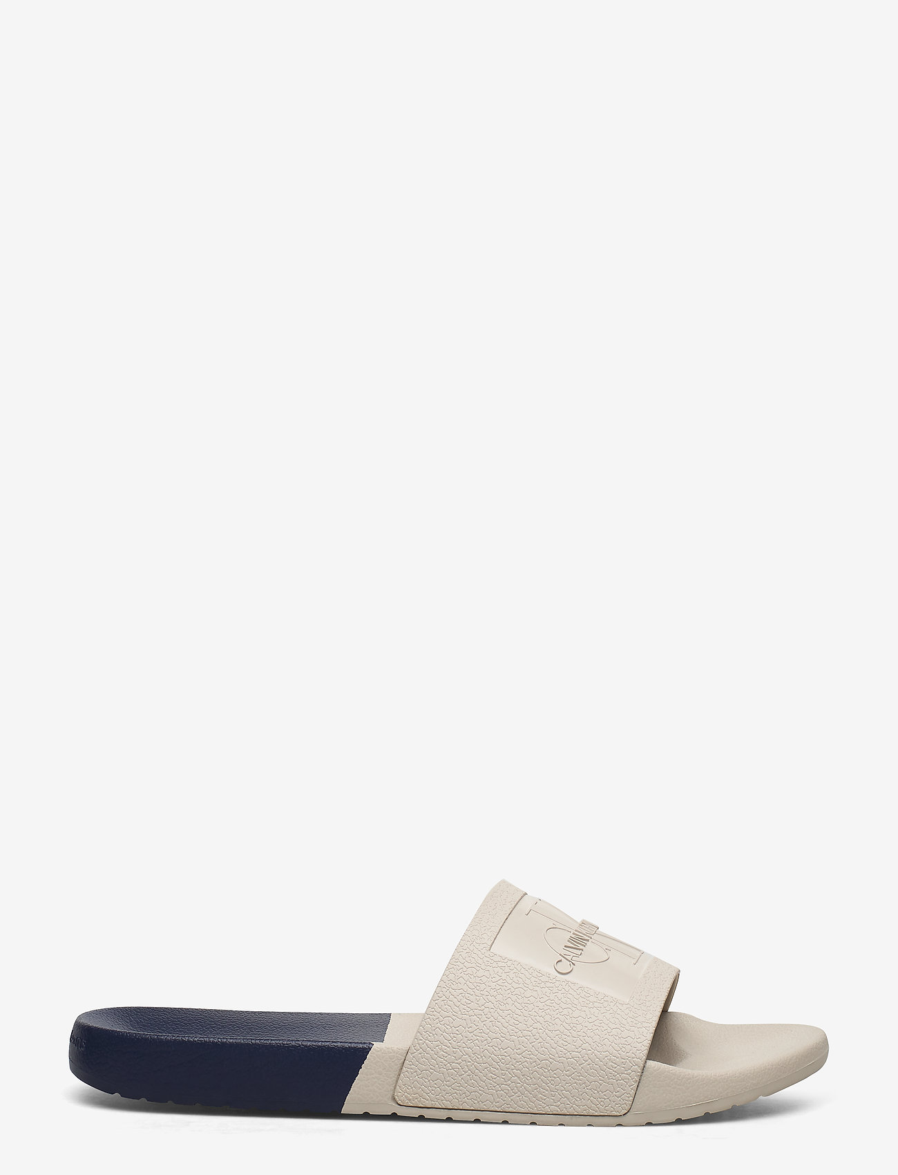 Calvin Klein - VIELMO - pool sliders - stone/navy - 1