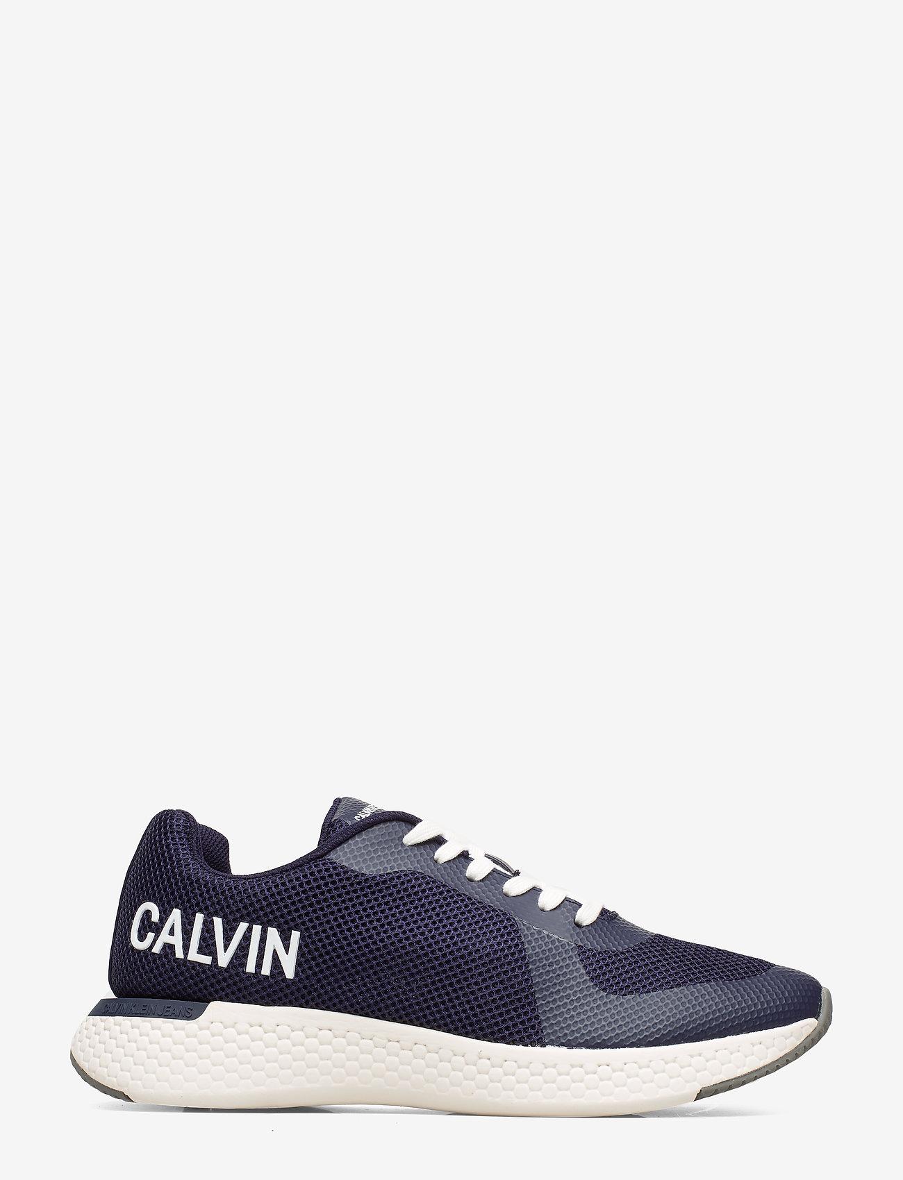 Calvin Klein - AMOS MESH/HF - laag sneakers - navy - 1
