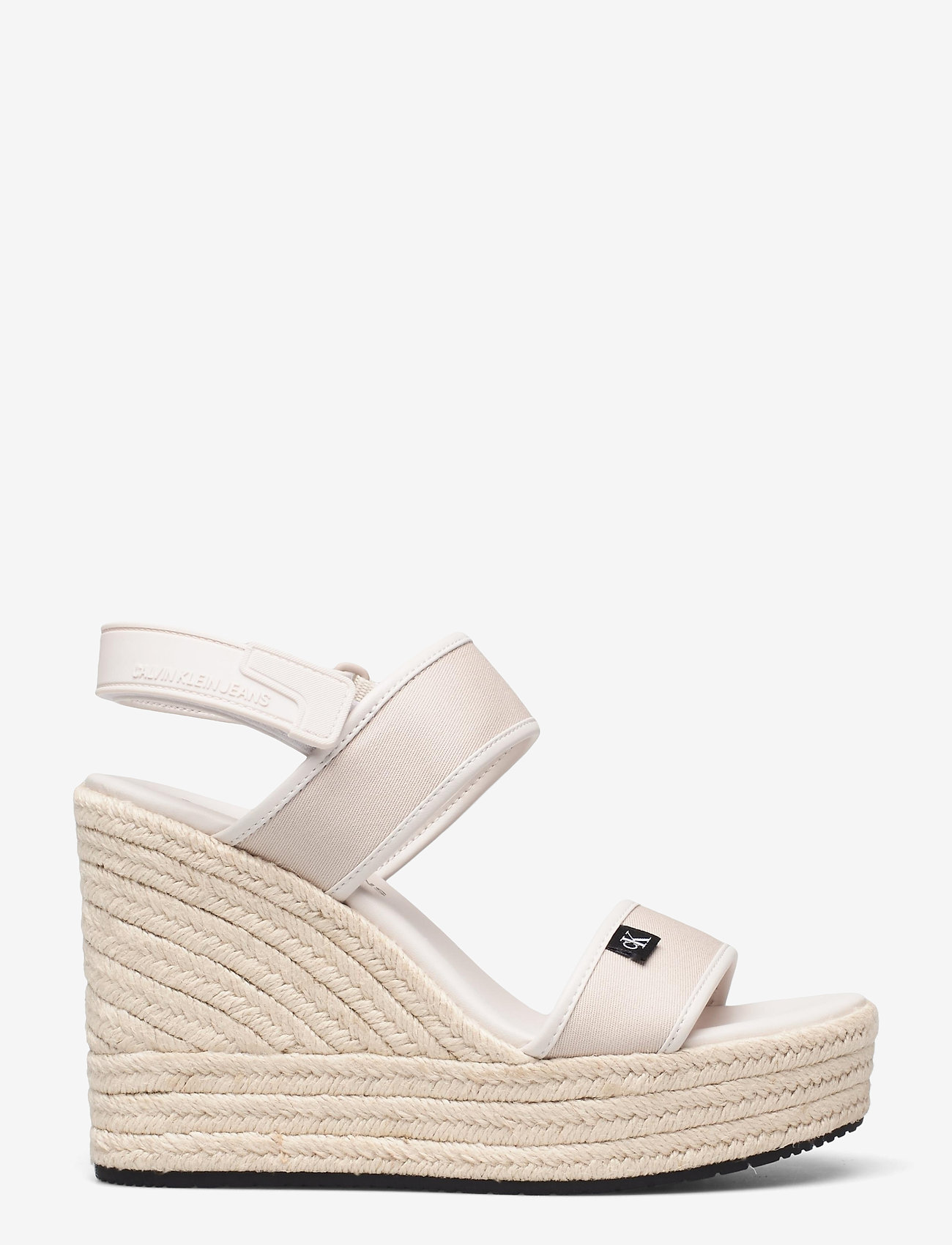 Calvin Klein - WEDGE SANDAL SLING CO - højhælede espadrillos - white sand - 0