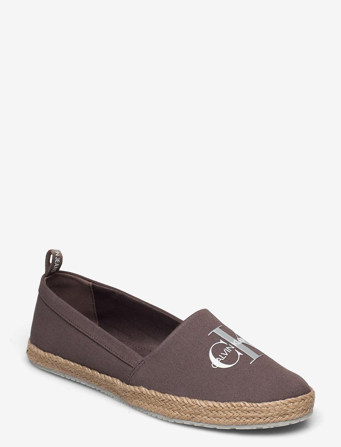 Calvin Klein - ESPADRILLE PRINTED CO - platta espadriller - dusty brown - 0