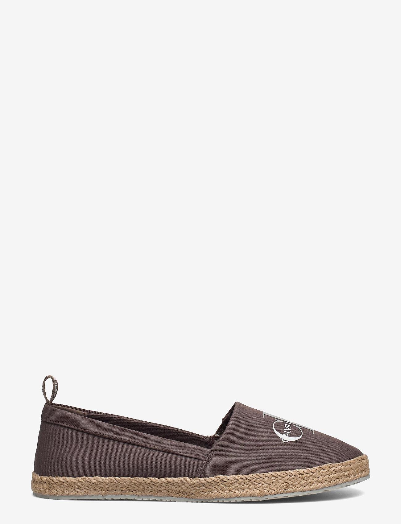 Calvin Klein - ESPADRILLE PRINTED CO - platta espadriller - dusty brown - 1