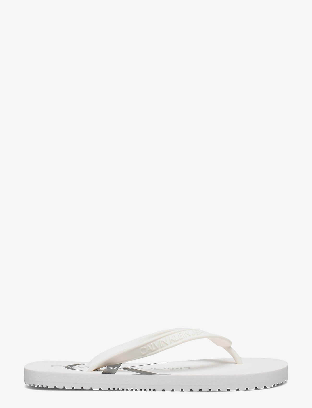 Calvin Klein - BEACH SANDAL MONOGRAM TPU - teenslippers - bright white - 1