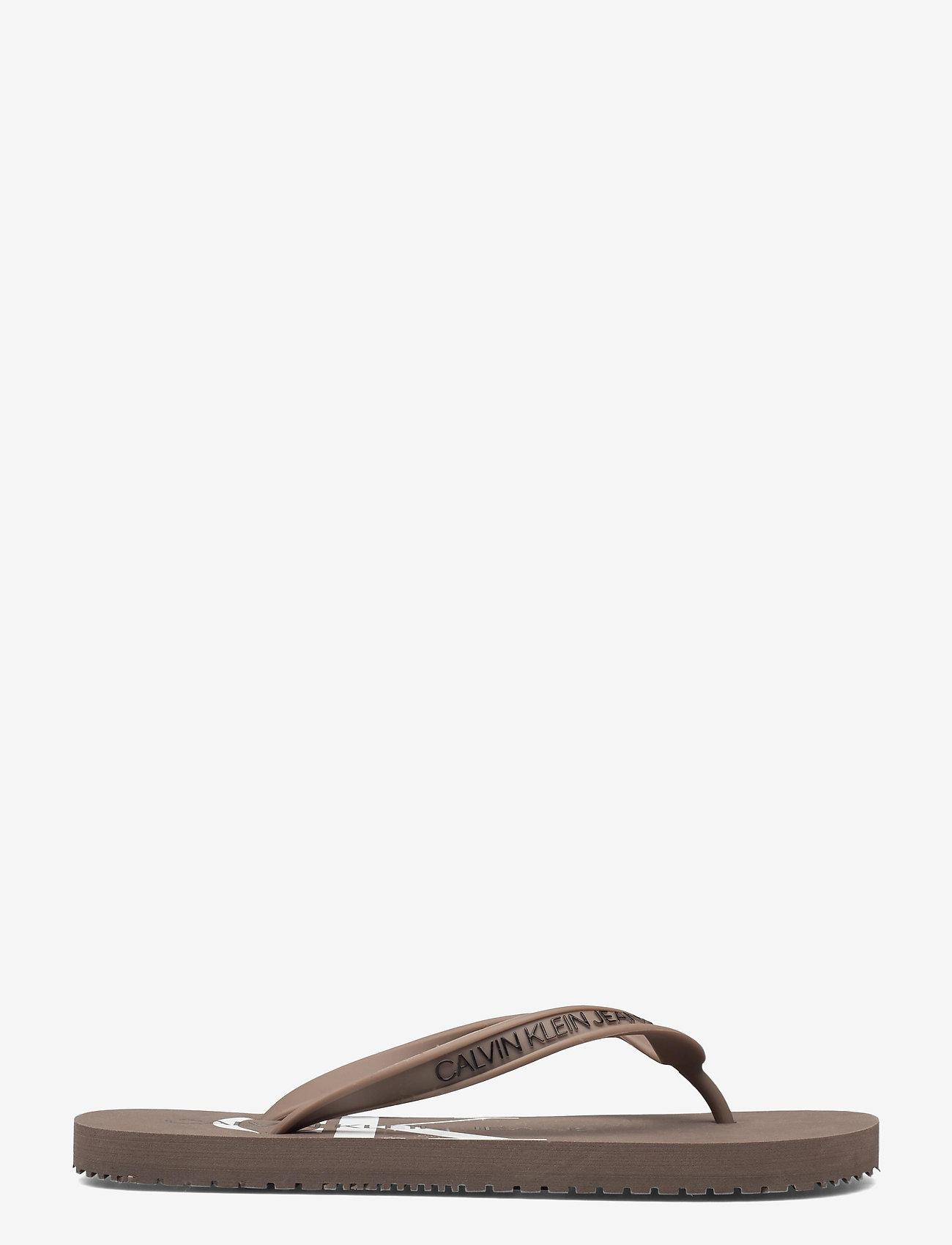 Calvin Klein - BEACH SANDAL MONOGRAM TPU - teenslippers - dusty brown - 1