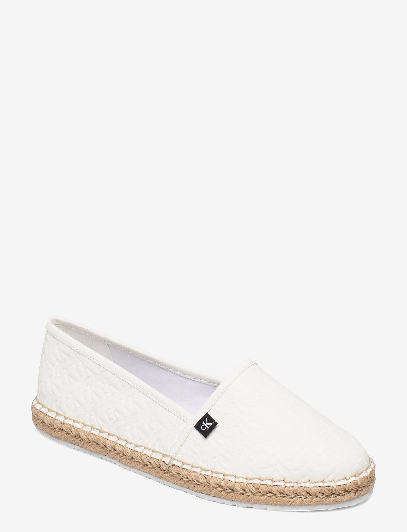 Calvin Klein - ESPADRILLE EMBOSSED PU - flache espadrilles - bright white - 0