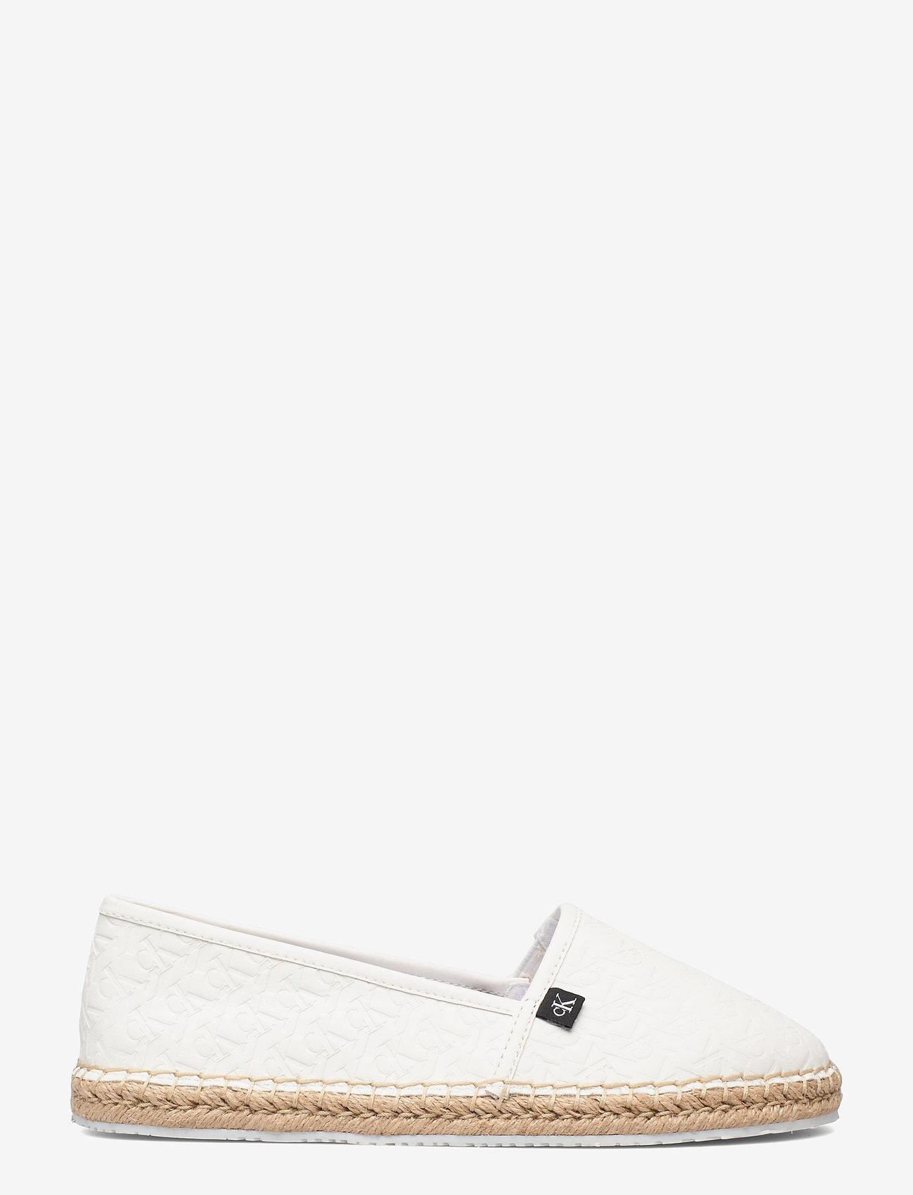 Calvin Klein - ESPADRILLE EMBOSSED PU - flache espadrilles - bright white - 1