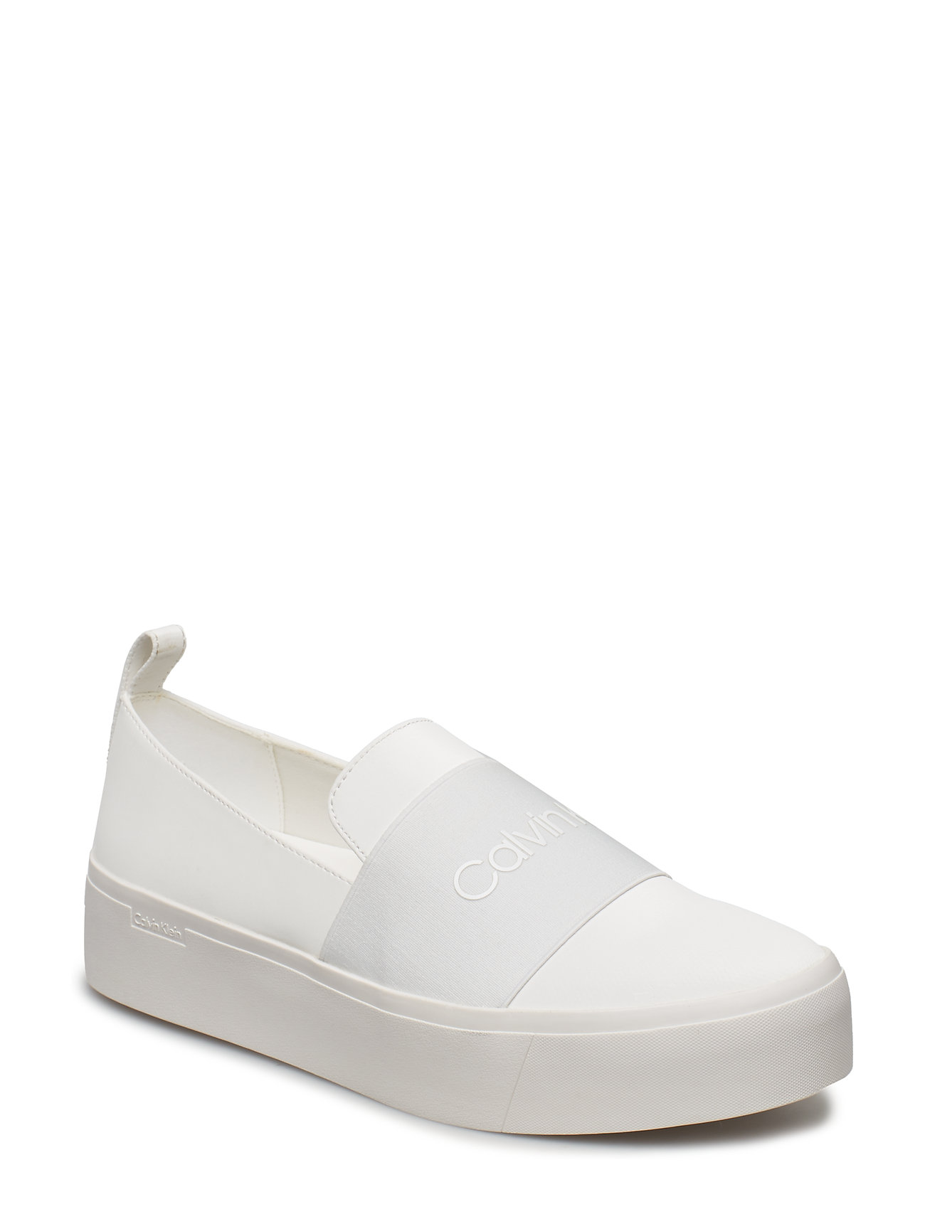 CALVIN KLEIN Jacinta Satin Canvas Sneaker Weiß CALVIN KLEIN