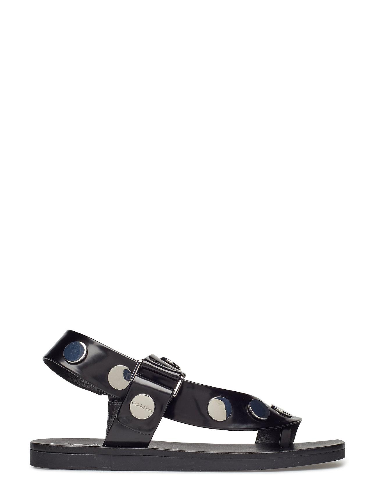 Rocsi Box Smooth Flade Sandaler Sort Calvin Klein