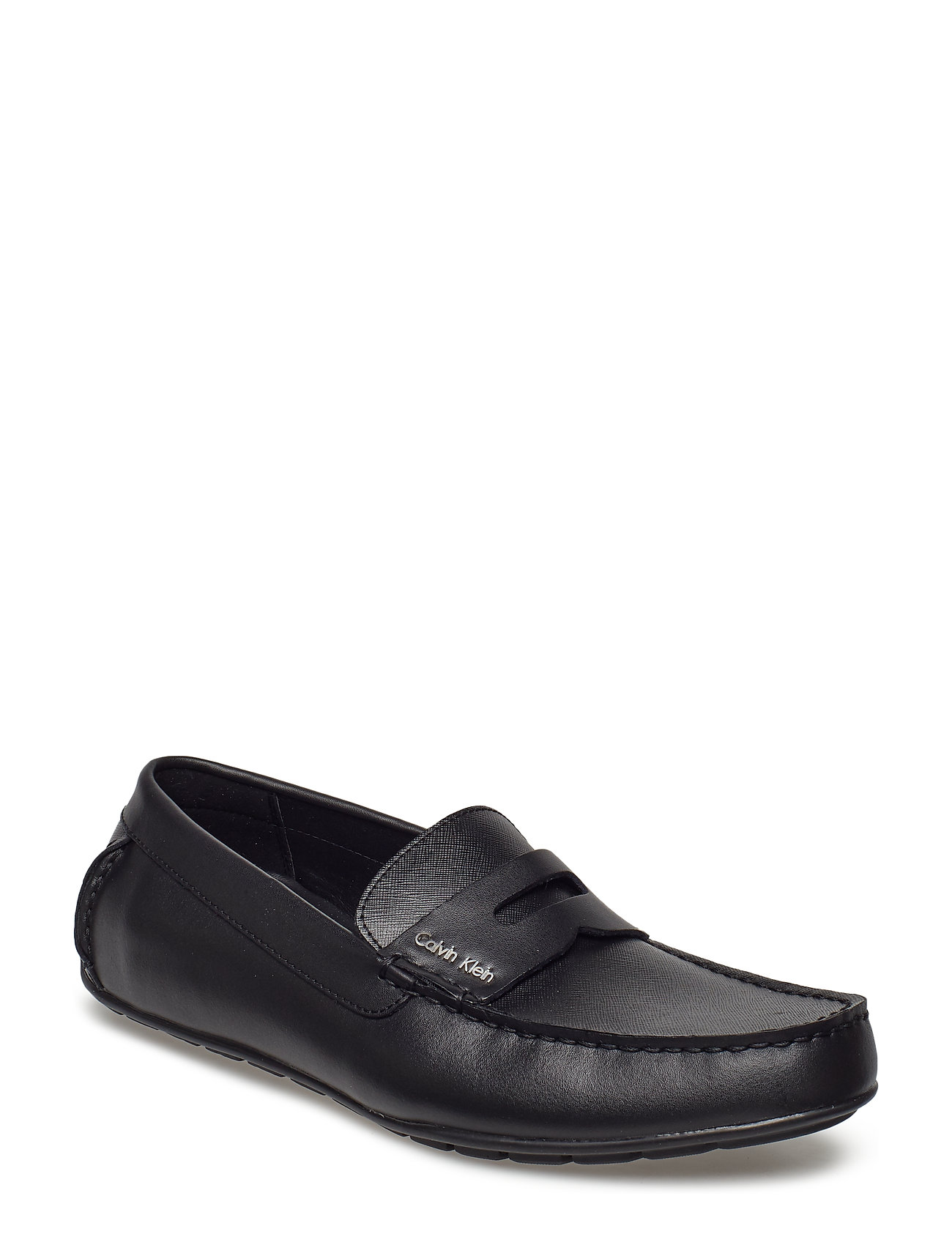 CALVIN KLEIN Ivan Brushed Leather/Saffiano Shoes Business Loafers Schwarz CALVIN KLEIN