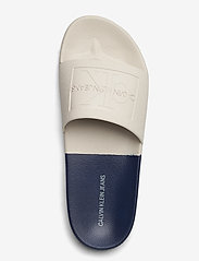 Calvin Klein - VIELMO - pool sliders - stone/navy - 3