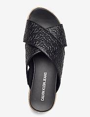 Calvin Klein - WEDGE PF SANDAL CRISSCROSS PA-PL - flache espadrilles - black - 3