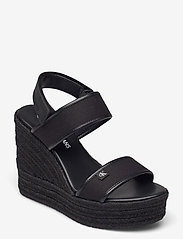 Calvin Klein - WEDGE SANDAL SLING CO - espadrilles mit absatz - black - 0