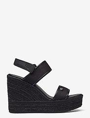 Calvin Klein - WEDGE SANDAL SLING CO - espadrilles mit absatz - black - 1