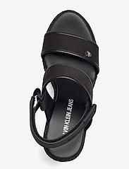 Calvin Klein - WEDGE SANDAL SLING CO - espadrilles mit absatz - black - 3