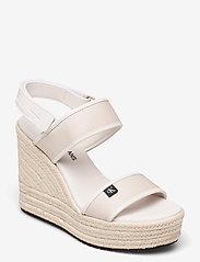 Calvin Klein - WEDGE SANDAL SLING CO - højhælede espadrillos - white sand - 1