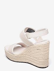 Calvin Klein - WEDGE SANDAL SLING CO - højhælede espadrillos - white sand - 2
