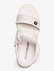 Calvin Klein - WEDGE SANDAL SLING CO - højhælede espadrillos - white sand - 3