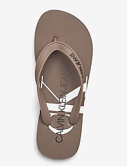 Calvin Klein - BEACH SANDAL MONOGRAM TPU - teenslippers - dusty brown - 3