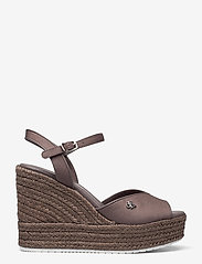Calvin Klein - WEDGE SANDAL ANKLE STRAP CO - wedges - dusty brown - 1