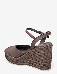 Calvin Klein - WEDGE SANDAL ANKLE STRAP CO - wedges - dusty brown - 2