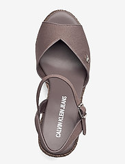 Calvin Klein - WEDGE SANDAL ANKLE STRAP CO - wedges - dusty brown - 3