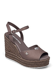 WEDGE SANDAL ANKLE STRAP CO - DUSTY BROWN