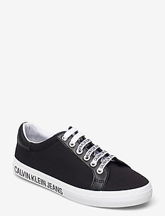 LOW PROFILE SNEAKER LACEUP CO - lave sneakers - black