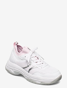 CHUNKY SOLE SOCK LACEUP PU-NY - niedrige sneakers - bright white