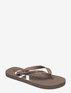 BEACH SANDAL MONOGRAM TPU - teenslippers - dusty brown