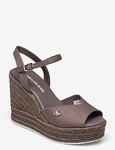 WEDGE SANDAL ANKLE STRAP CO - espadriller med klack - dusty brown