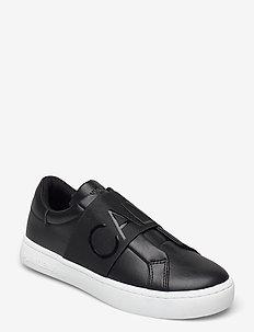 CUPSOLE SLIPON ELASTIC LTH - låga sneakers - black