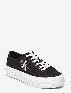 VULCANIZED FLATFORM LACEUP CO - låga sneakers - black