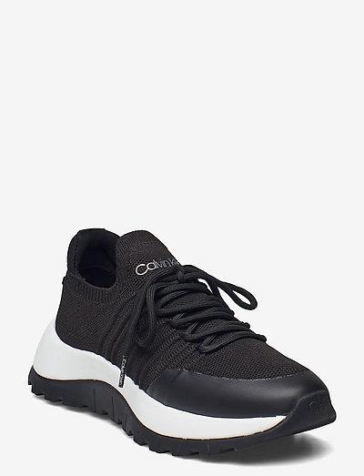 KNIT LACE UP 1D - sneakersy niskie - ck black