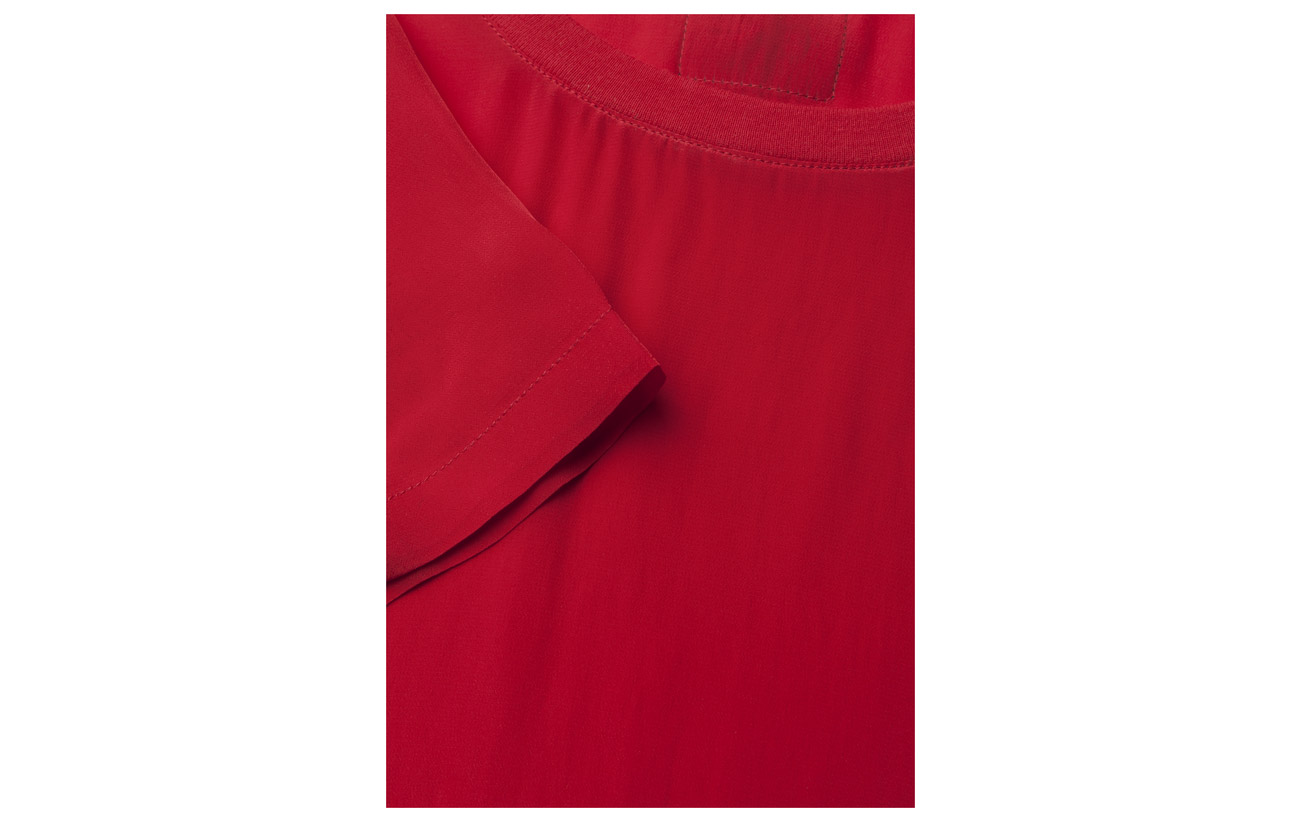 Tango Klein Calvin Ss Cn Woven Jeans 100 Viscose Red Tee WpWrgxnU