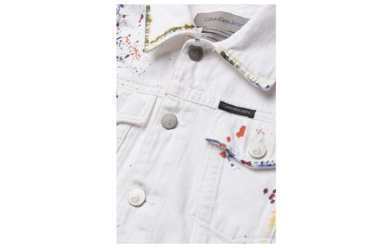 Sterling Blue Clean Jeans Calvin Klein Coton Line 100 Trucker x1wY1XnPv