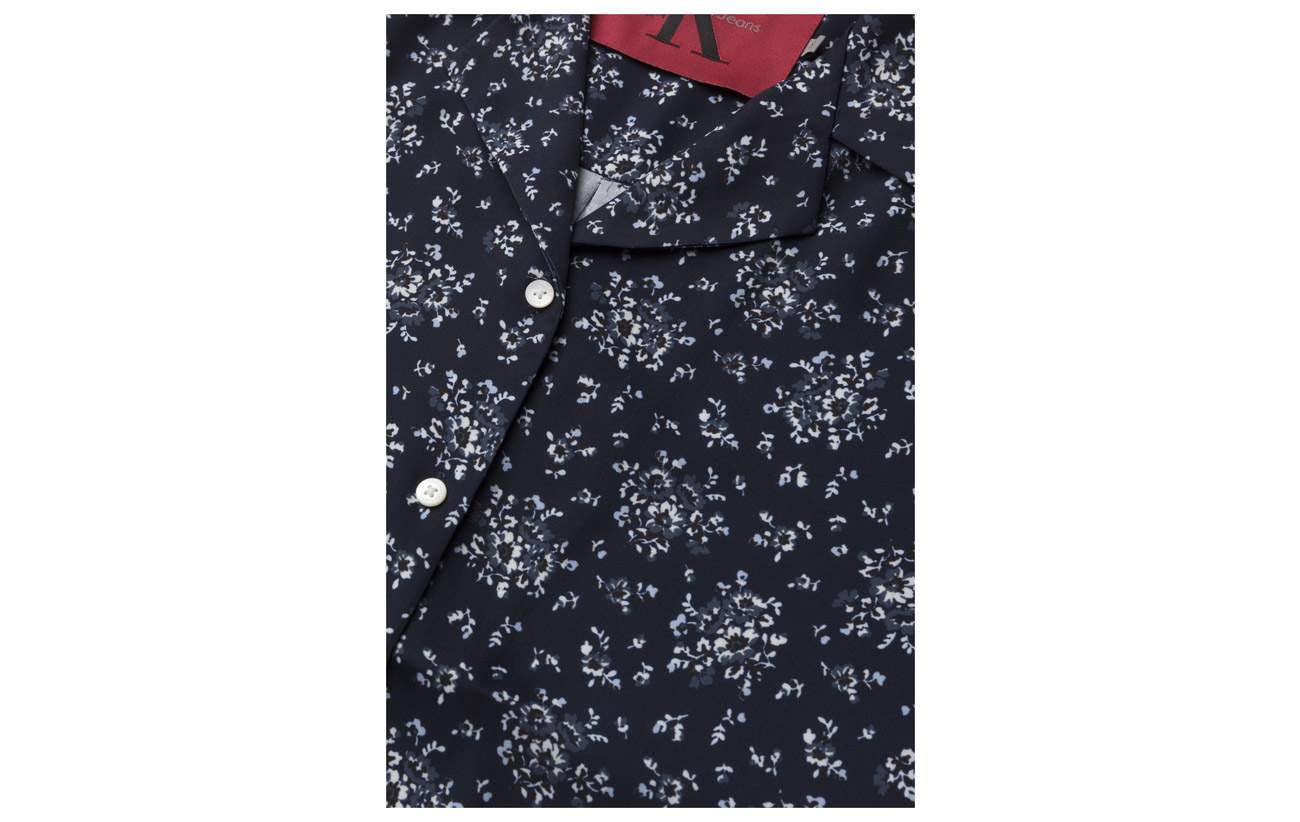 Flower Top 100 Wittoria Peacoat Combo Calvin Jeans Polyesterpes Aop Klein qvPwPSxB